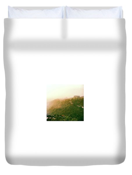 Great Wall Of China Beijing  Duvet Cover