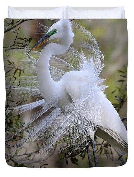 Great White Egret Iv Duvet Cover