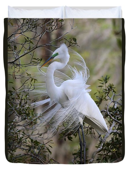 Great White Egret Iv Duvet Cover
