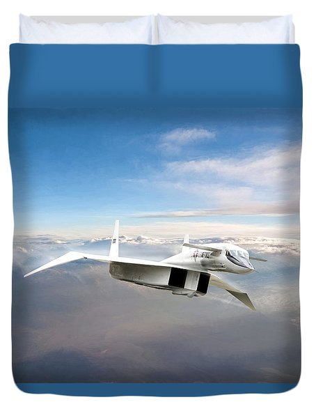 Great White Hope Xb-70 Duvet Cover by Peter Chilelli