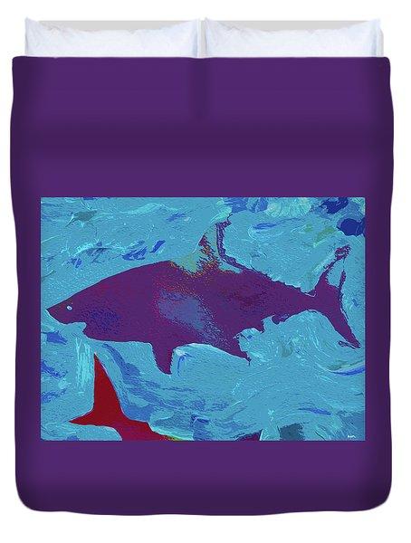 Great White Shark Duvet Cover by Robert Margetts