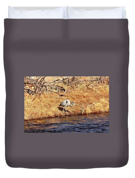 Greatblueheron1 Duvet Cover