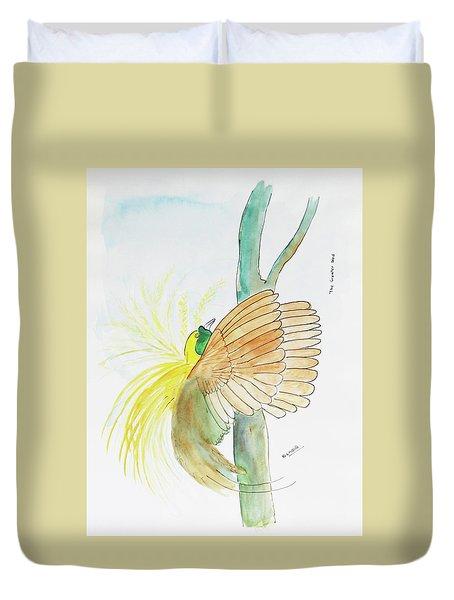 Greater Bird Of Paradise Duvet Cover by Keshava Shukla
