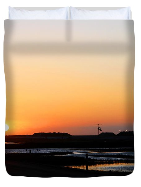 Greater Prudhoe Bay Sunrise Duvet Cover