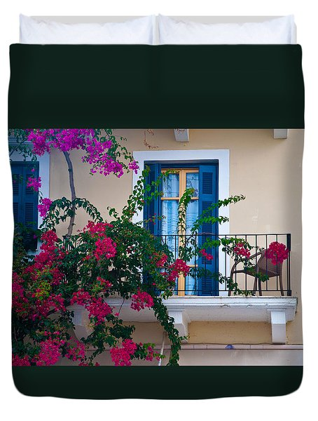Duvet Cover featuring the photograph Greek Beauty by Rob Hemphill