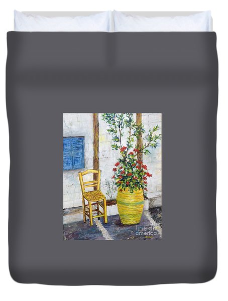 Greek Chair Duvet Cover
