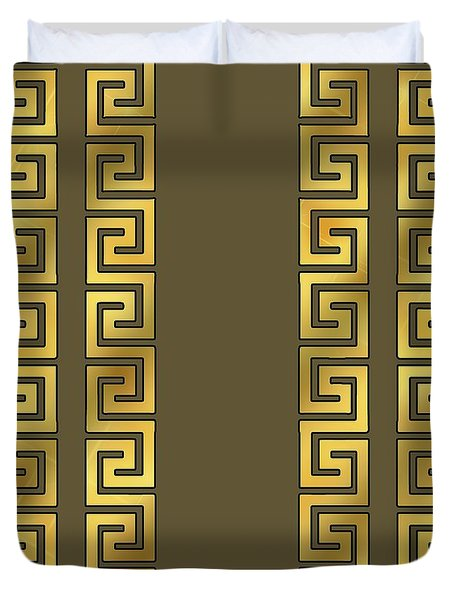 Greek Gold Pattern - Chuck Staley Duvet Cover