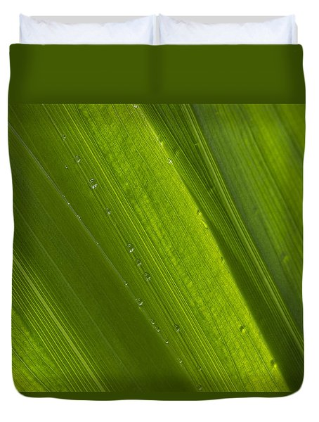 Green Abstract 2 Duvet Cover
