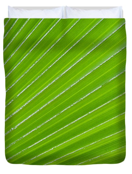 Green Abstract No. 1 Duvet Cover