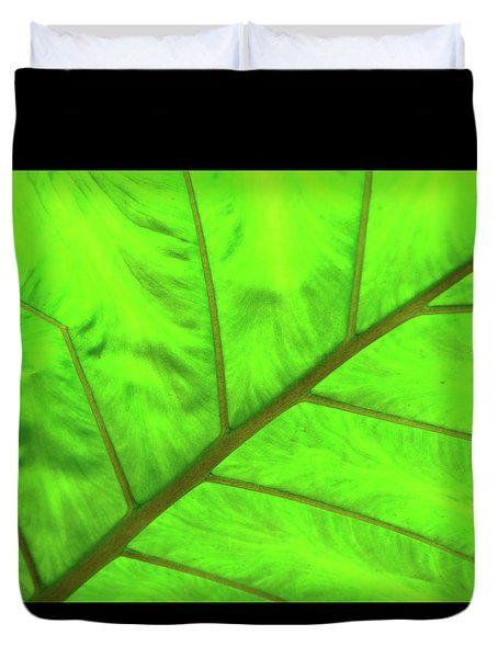 Green Abstract No. 5 Duvet Cover