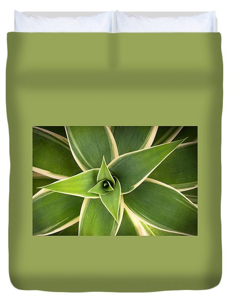 Green Agave Duvet Cover by Catherine Lau