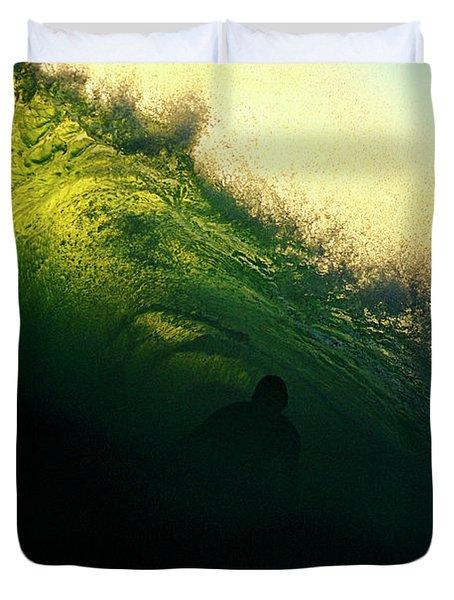 Green And Black Duvet Cover