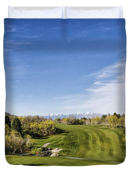 Green And Fairway Duvet Cover