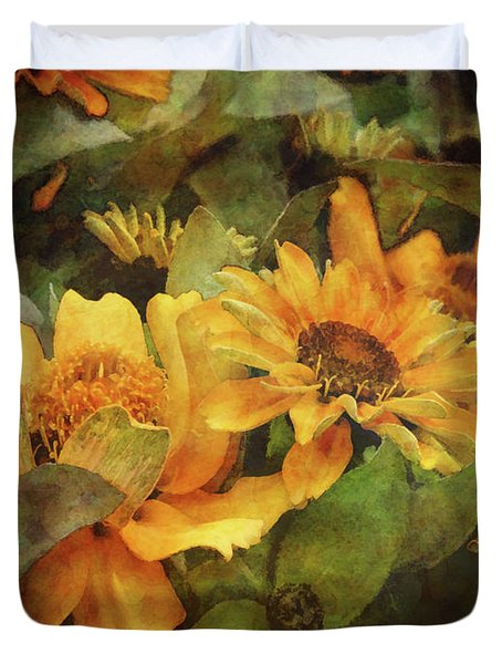 Green And Gold 1068 Idp_2 Duvet Cover