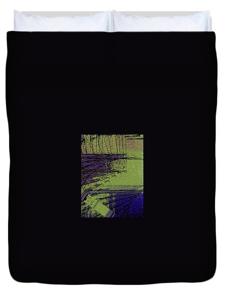 Green And Purple Field Duvet Cover