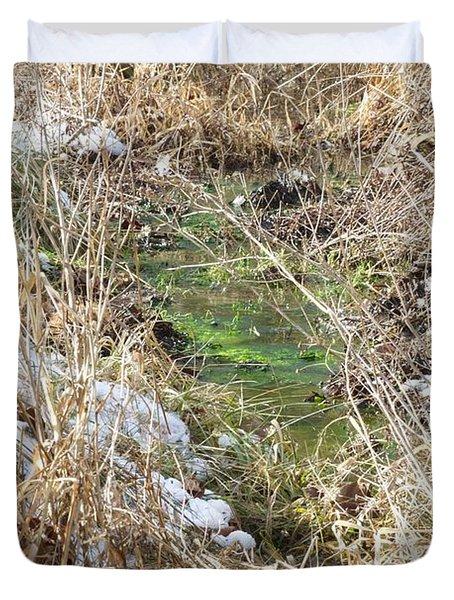 Green And White Duvet Cover