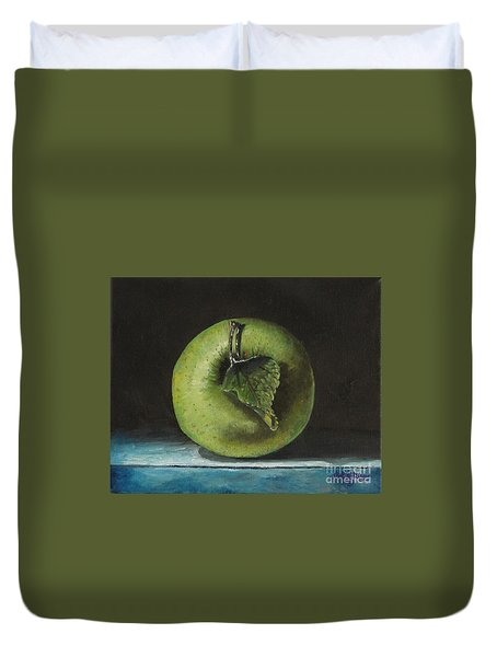 Green And Yellow Apple Duvet Cover