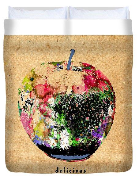 Green Apple Poster Print Duvet Cover
