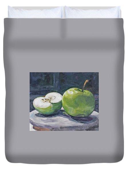 Green Apple Duvet Cover