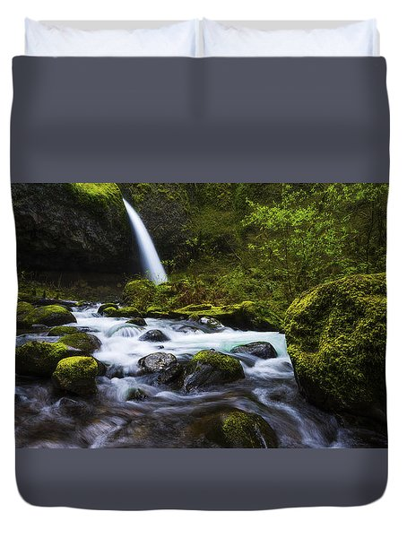 Green Avenue Duvet Cover