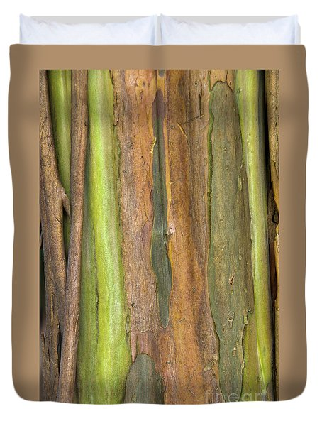 Duvet Cover featuring the photograph Green Bark 3 by Werner Padarin