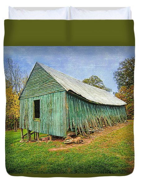 Green Barn Duvet Cover by Marion Johnson