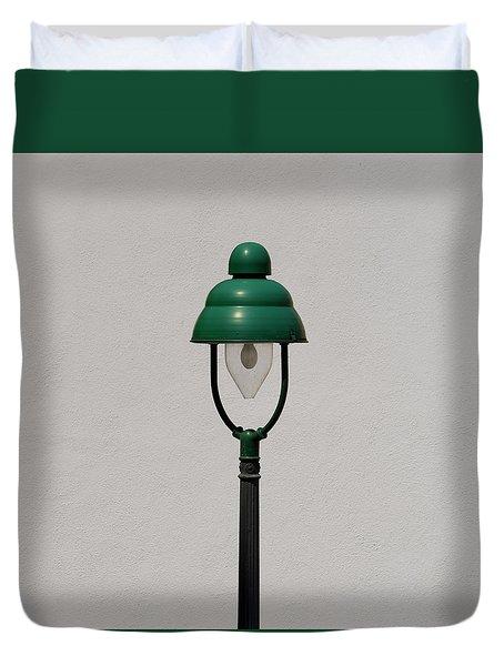 Green Bavarian Lamp Duvet Cover