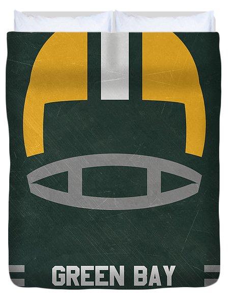 Green Bay Packers Vintage Art Duvet Cover