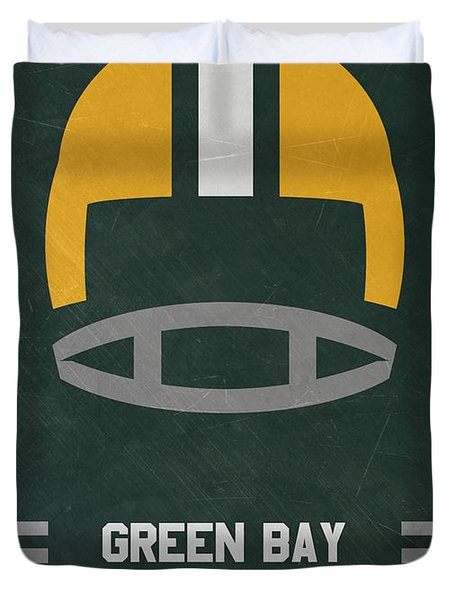 Green Bay Packers Vintage Art Duvet Cover
