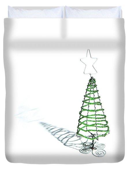 Green Bead Christmas Tree II Duvet Cover