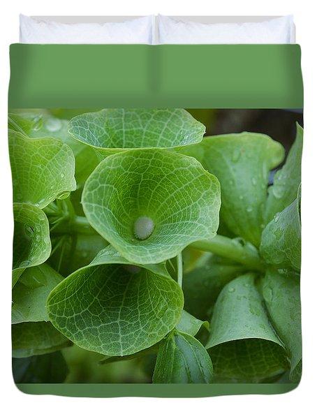 Green Bells Duvet Cover