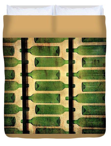 Green Bottles Duvet Cover
