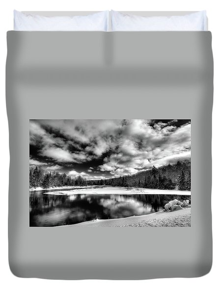 Duvet Cover featuring the photograph Green Bridge Solitude by David Patterson