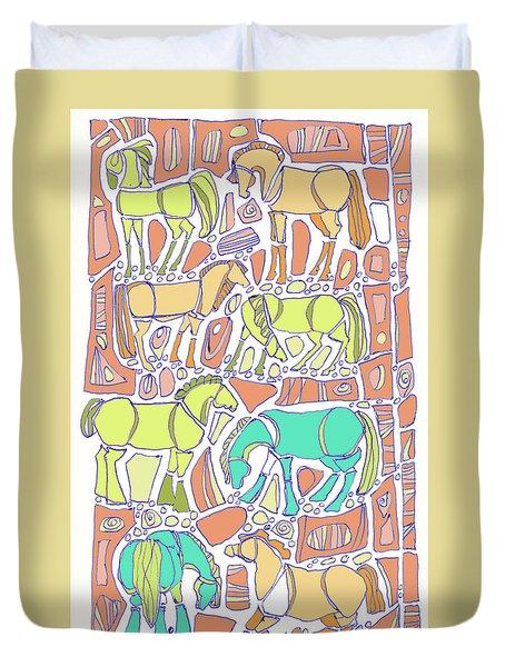 Green Broke Duvet Cover by Linda Kay Thomas
