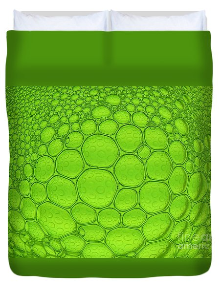 Green Bubbles Duvet Cover