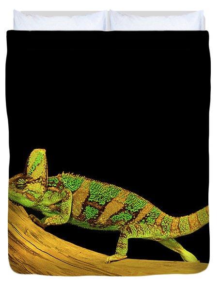 Green Chameleon Duvet Cover