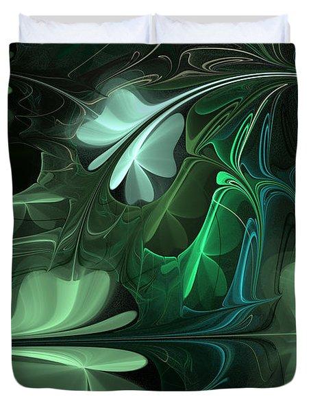 Green Clover Field Duvet Cover