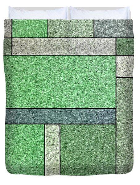 Green Composition Duvet Cover