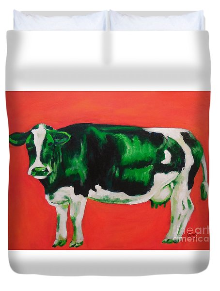 Green Cow Duvet Cover