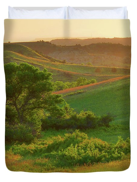 Green Dakota Dream Duvet Cover
