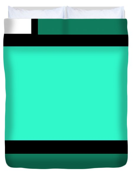 Green Design 1 Vertical Duvet Cover