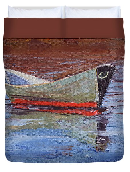 Green Dory Duvet Cover