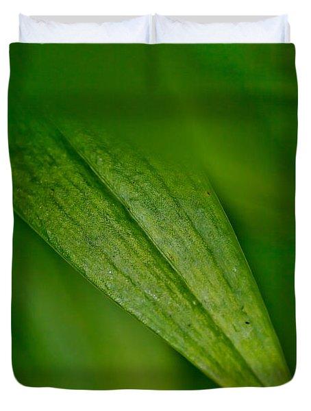 Green Edges Duvet Cover
