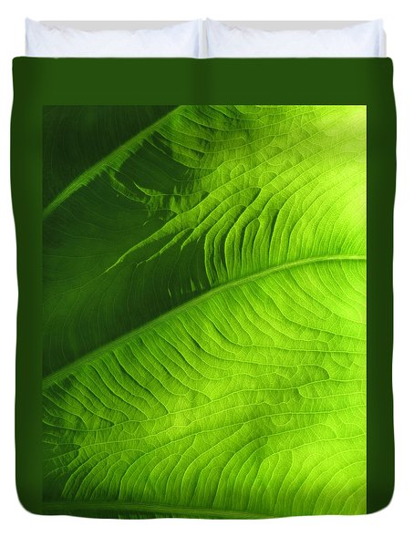 Green Elephant Duvet Cover
