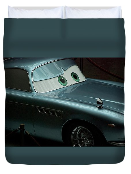 Green Eyed Finn Mcmissile Mp Duvet Cover by Thomas Woolworth
