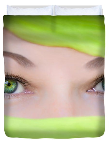 Green-eyed Girl Duvet Cover