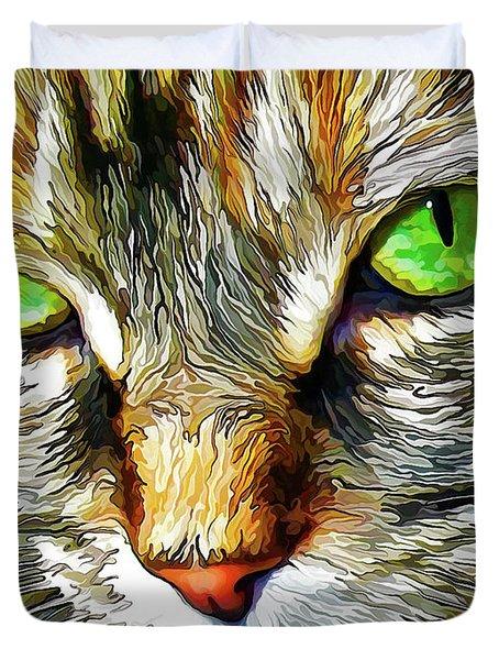 Green-eyed Monster Duvet Cover
