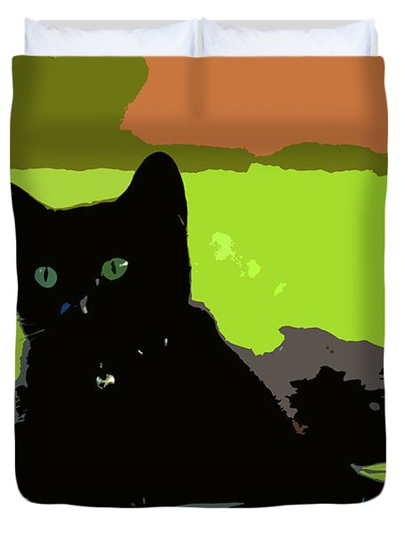 Green Eyes Duvet Cover