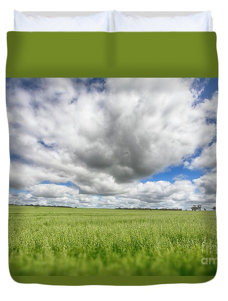 Green Fields 2 Duvet Cover by Douglas Barnard
