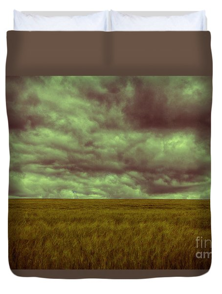 Green Fields 3 Duvet Cover by Douglas Barnard